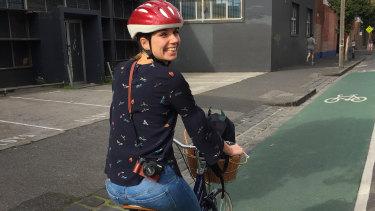 Gitta Scheenhouwer loved riding her bike around Melbourne.