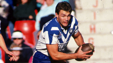 Paul Dunn in his playing days for the Bulldogs.