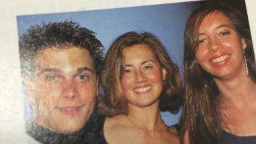 Former Dolly editor Marina Go (centre) and Ute Junker with 1990s' TV star Bruce Samazan.