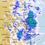 Significant rain moving over south-east Queensland on Friday afternoon.