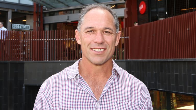 Former Wallabies player Richard Tombs suffered spinal injuries in a freak accident playing soccer.