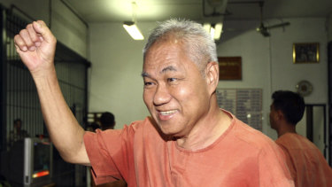 Surachai Danwattananusorn faces court in Bangkok in 2012. He later went into exile in Laos and has not been seen since December 12, 2018.