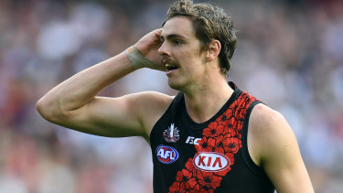 Joe Daniher has a suspected recurrence of a groin injury.