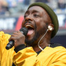 Will.i.am hits back at criticism of Black Eyed Peas AFL grand final set