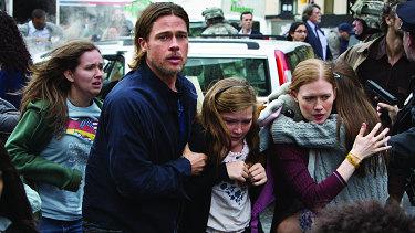Brad Pitt in a scene from World War Z.