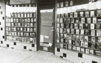The Thornbury bookshop where Maria James was murdered in June 1980.