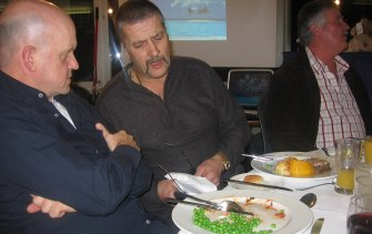 """Mark """"Chopper"""" Read with John Silvester. The peas were overcooked. Bernie """"the attorney"""" Balmer looks the other way."""