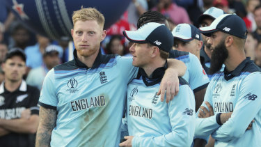 England players prepare to celebrate their maiden World Cup triumph, secured in the most bizarre of circumstances.