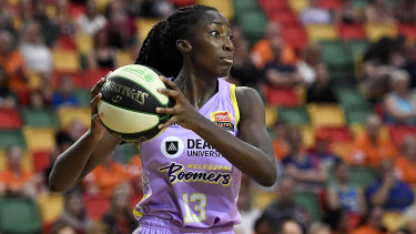 Ezi Magbegor was a stand-out for the Boomers.