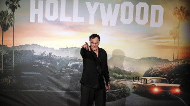 Quentin Tarantino at the Italian premiere of Once Upon a Time... in Hollywood.
