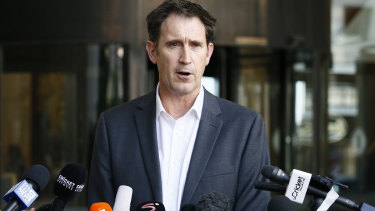 CA chief executive James Sutherland at a press conference at the teams hotel in Johannesburg on Wednesday.