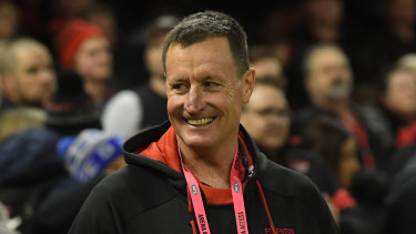 Bombers coach John Worsfold had plenty of reasons to smile after the come-from-behind win over the Giants.