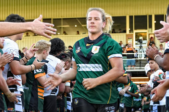 Still playing rugby league at the age of 43, Danielle is now working to create better pathways for female league players in WA and was recently inducted into the NRL WA Past Players Hall of Fame.