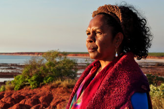 Dr Anne Poelina,Nyikina Warrwa traditional custodian, from Fitzroy River.