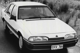 The Holden Commodore in 1995 when it was Australia's top-selling private car.