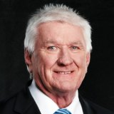 The voice of rugby league: Ray Warren.