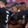Wanderers snap winless streak against last-placed  Mariners