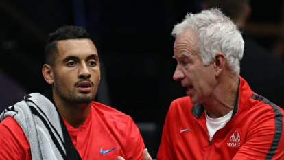 Nick Kyrgios joins McEnroe to face Federer-Nadal dream team