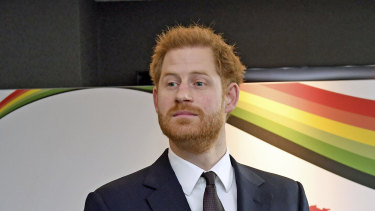 Britain's Prince Harry attends the UK Africa Investment Summit in London on January 20.