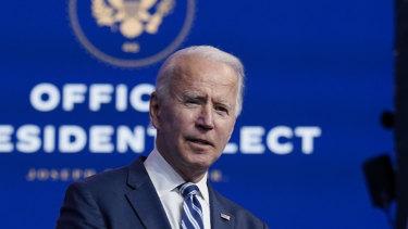 President-elect Joe Biden said his transition was proceeding smoothly, despite Donald Trump's refusal to acknowledge defeat.