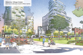 An artist's impression for one of the options of the redevelopment, but can we trust these first impressions?