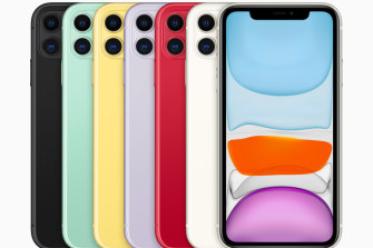 The iPhone 11 has a dual camera setup and comes in six different colours.