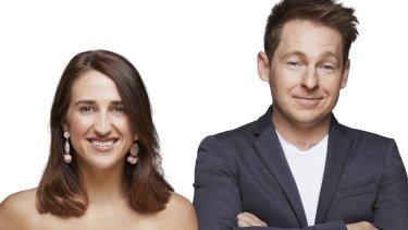 Kiis FM Melbourne's breakfast presenters Jase and PJ.