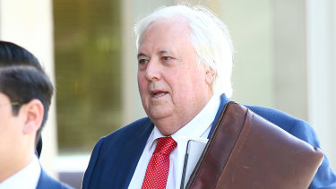 Clive Palmer at a previous Queensland Nickel court hearing.