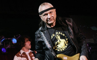 """Dick Dale, known as """"The King of the Surf Guitar"""", performs at B.B. King Blues Club in New York, 2007."""