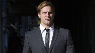 Jack de Belin arrives at court last month.