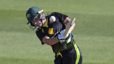 Record knock: Alyssa Healy's 148 not out took just 61 balls.