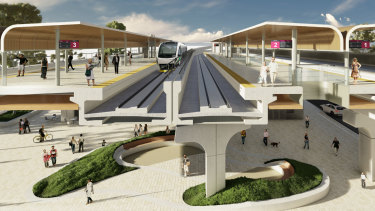 Bayswater train station redesign.
