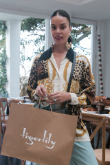 Stylist Fleur Egan at the Tigerlily gifting suite.