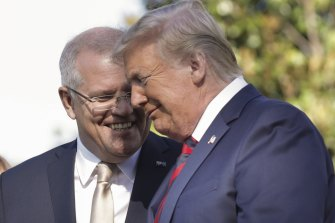Prime Minister Scott Morrison and President Donald Trump in Washington in September .