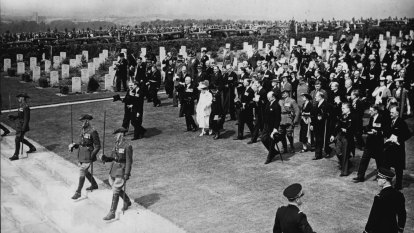 From the archives, 1938: King unveils memorial at Villers-Bretonneux