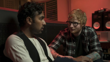 Himesh Patel, left, and Ed Sheeran in a scene from Yesterday.