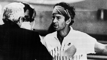 John McEnroe argues with the Australian Open tournament in 1990.