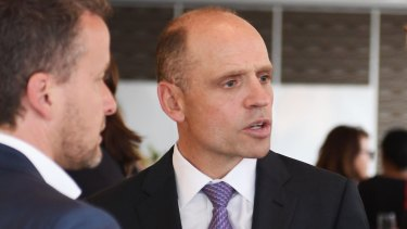 James Packer's right-hand man Mark Arbib at the launch of Damon Kitney's book on the billionaire.