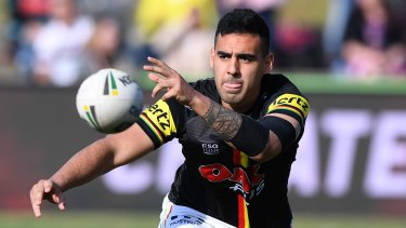 Stood down: Panthers playmaker Tyrone May.