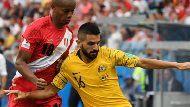 Attacking fullback: Aziz Behich is excited for the immediate future with the Socceroos ahead of the clash with Kuwait.