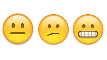 Some of the hundreds of emojis that can be added to text messages.