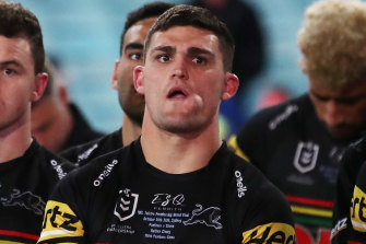 Nathan Cleary was blaming himself for the Panthers' loss.