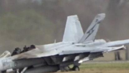 Warplanes grounded after RAAF jet crash near Brisbane