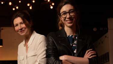 Actor Anita Hegh (left) and director Carissa Licciardello are opening the first mainstage post-lockdown play in Sydney, A Room of One's Own.