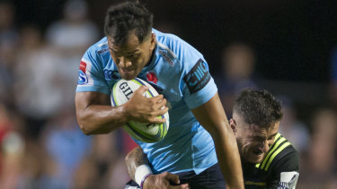 Strong carries: Karmichael Hunt impressed on debut for NSW after two years in the wilderness.