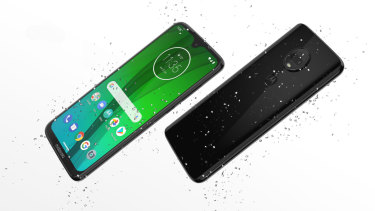 "The Moto G7 Plus is not waterproof, but it has a water-repelling coating that makes it ""splash proof""."