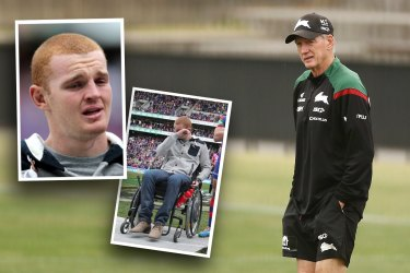 Alex McKinnon's career was tragically cut short in 2014 playing under Wayne Bennett at the Newcastle Knights.