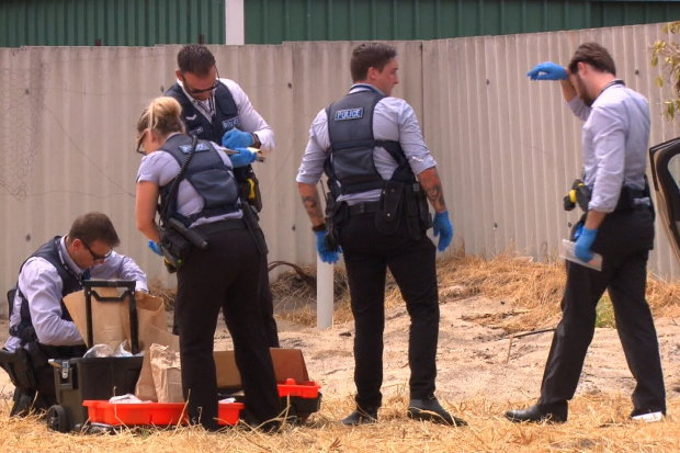Police removed a number of items from the vehicle, including a machete and a tomahawk.
