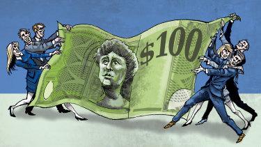 Cheque mate: Investors hit back in executive pay dispute.  Illustration: Joe Benke