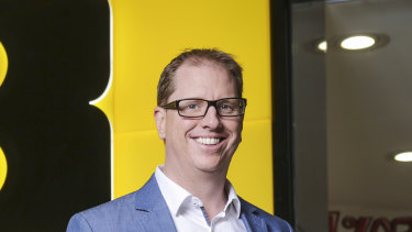 JB Hi-Fi group chief executive Richard Murray delivered a record half-year profit on Monday.